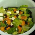 Salat med gule tomater