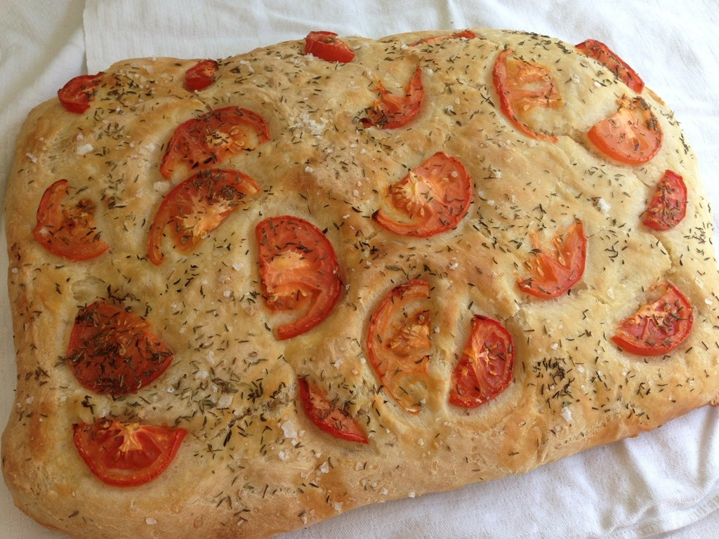 Focaccia brød