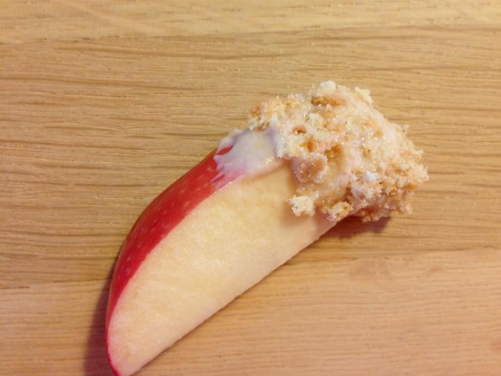 Æble med karameldip