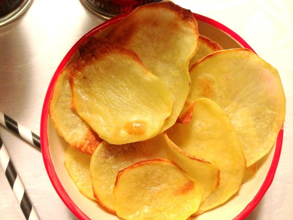 Hjemmelavede kartoffelchips