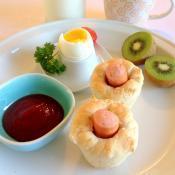Pølse muffins