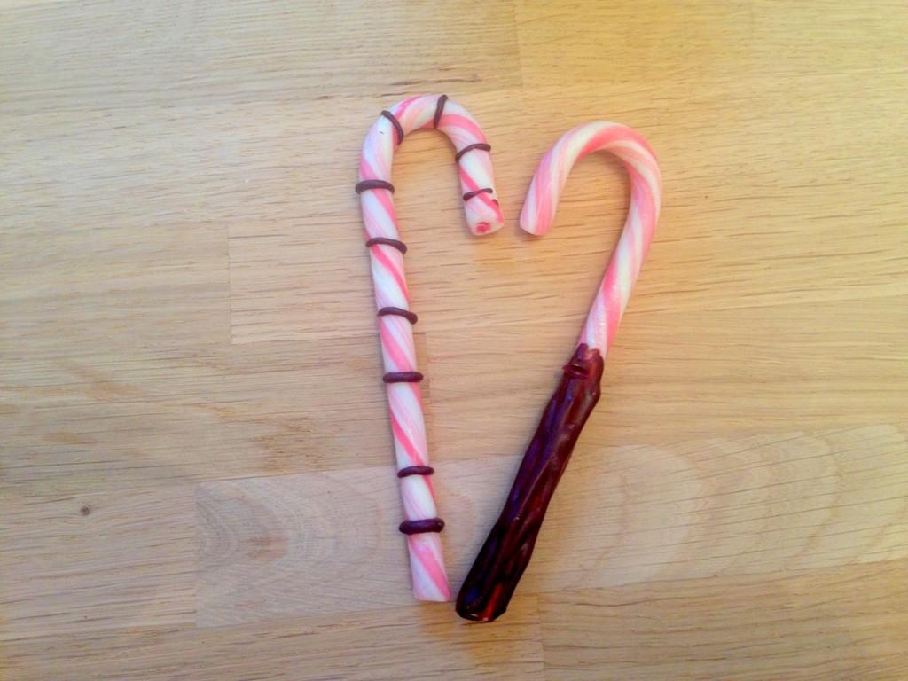 Pebermyntestokke med marshmallow
