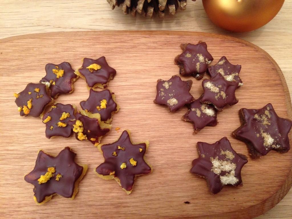 Marcipanstjerner med appelsin og lakrids
