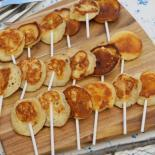 Mini pandekager på pind