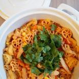 Kyllingegryde med pasta