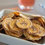 Hjemmelavede bananchips