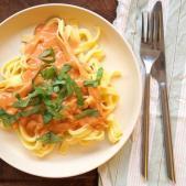 Frisk pasta med tomatsauce