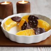 Appelsinbåde med chokolade og havsalt