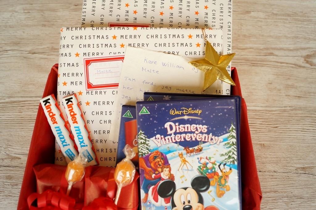 En vente-kasse til juleaften