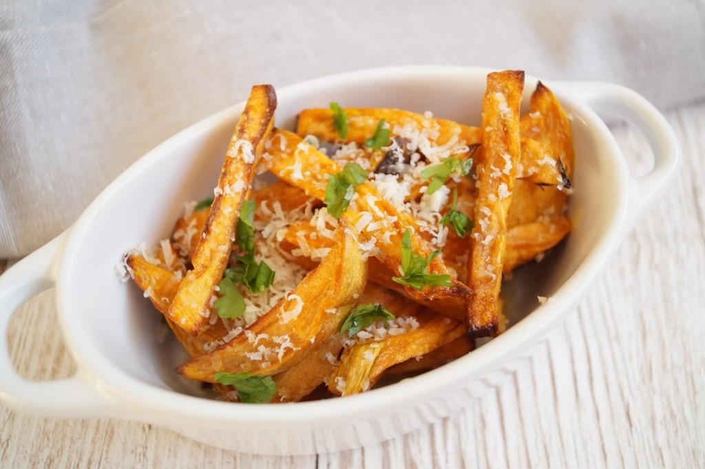 Sweet Potato Fries Med Parmesan Opskrift Madlingdk