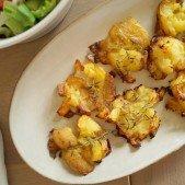 Sprøde maste kartofler