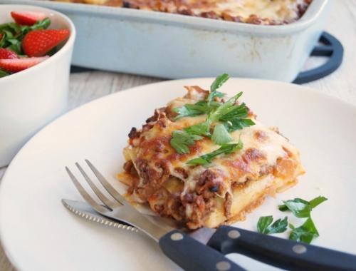 Hjemmelavet lasagne med bechamelsovs