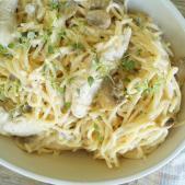 Pastaret med kylling og champignoner