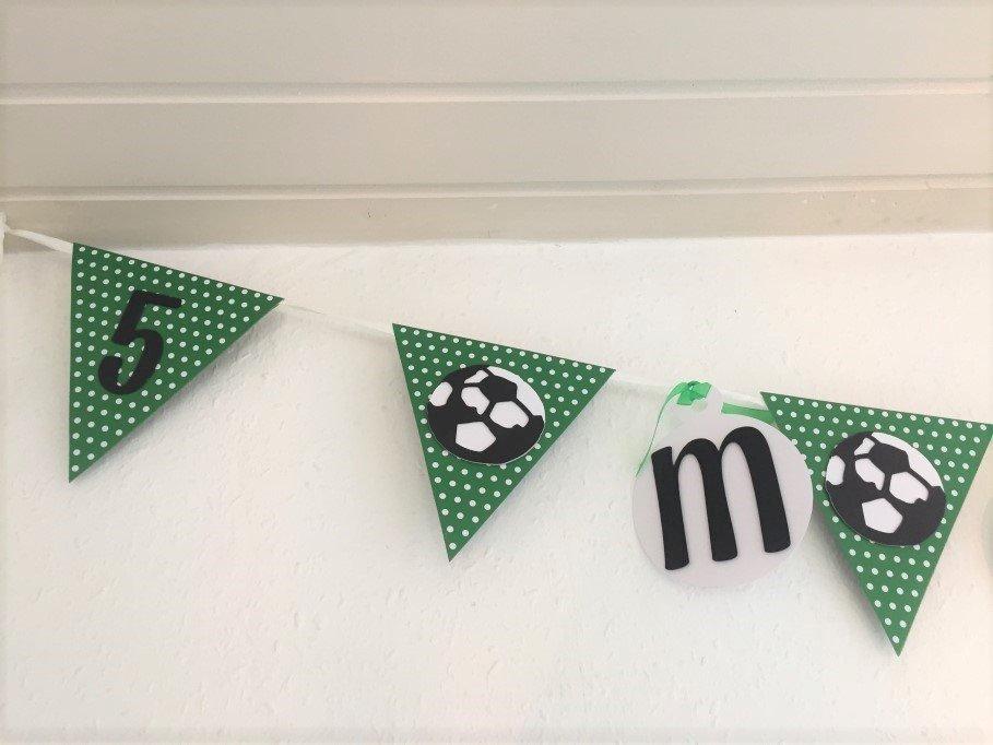 5 års fødselsdag med fodbold tema