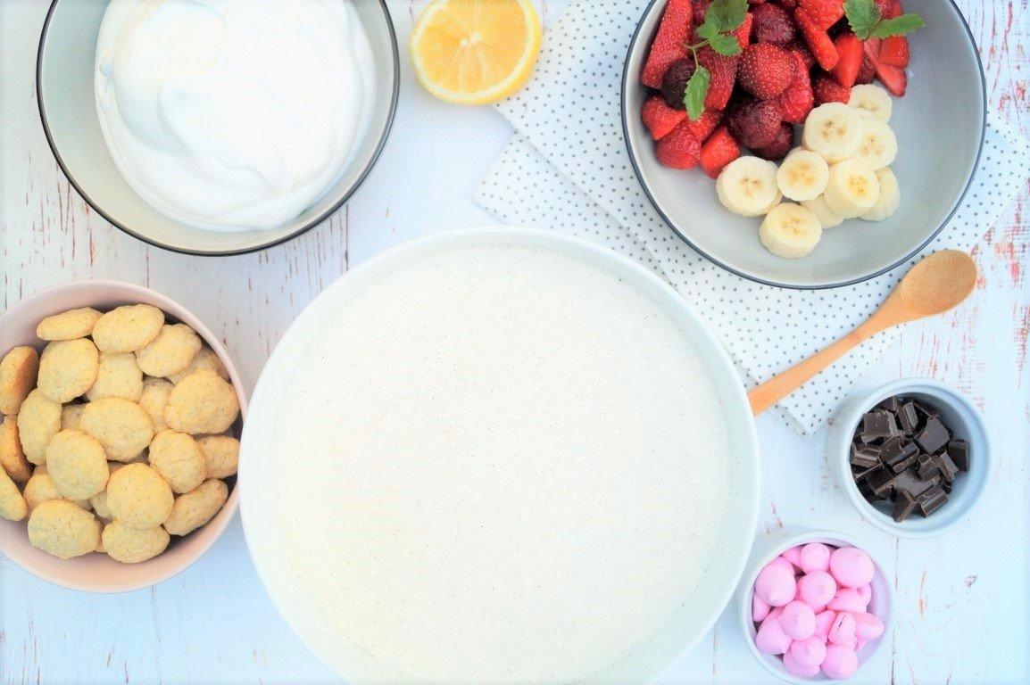 Koldskål – hjemmelavet kærnemælkskoldskål
