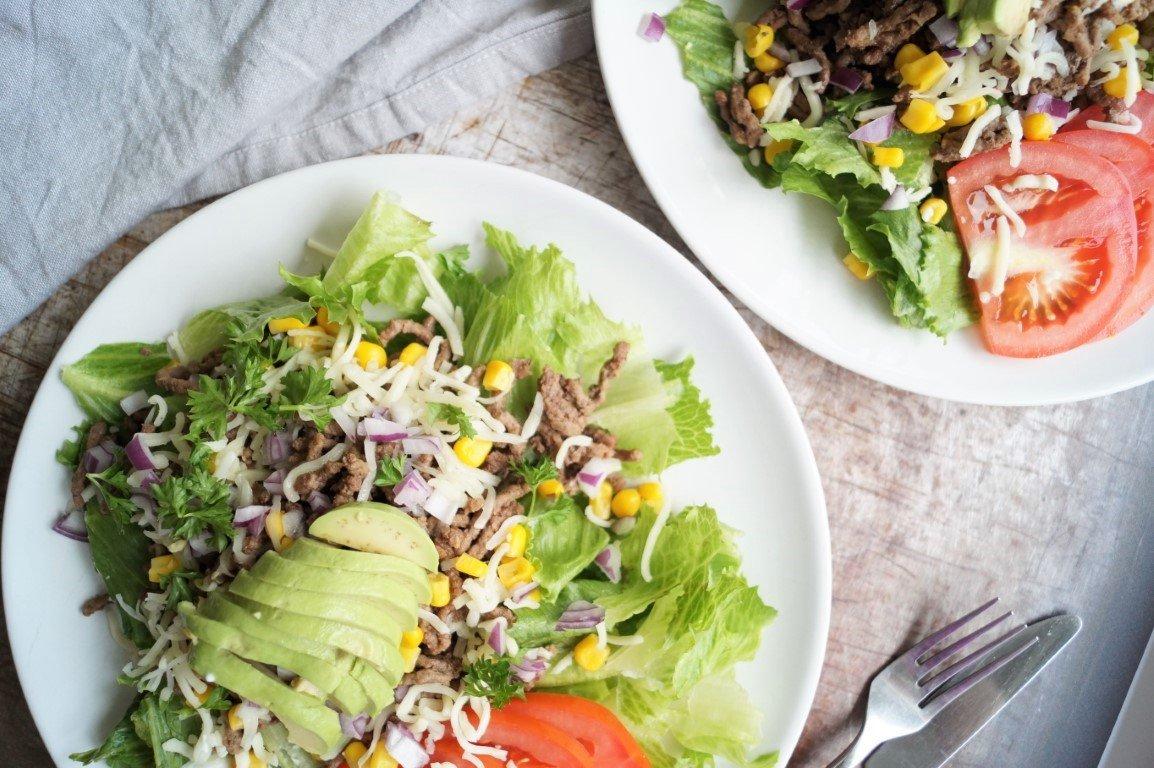 Nem og lækker mexi-salat