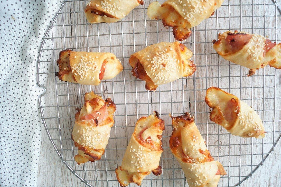 Skinkehorn med ost