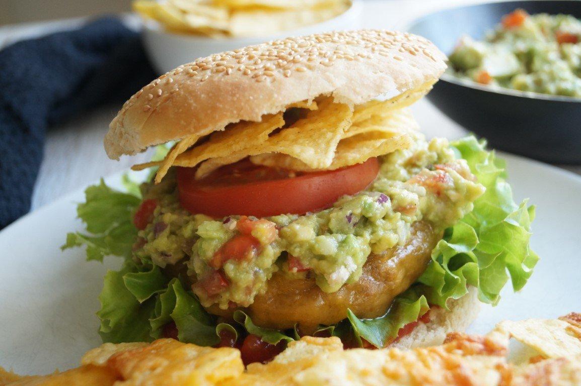 Mexicansk burger med guacamole