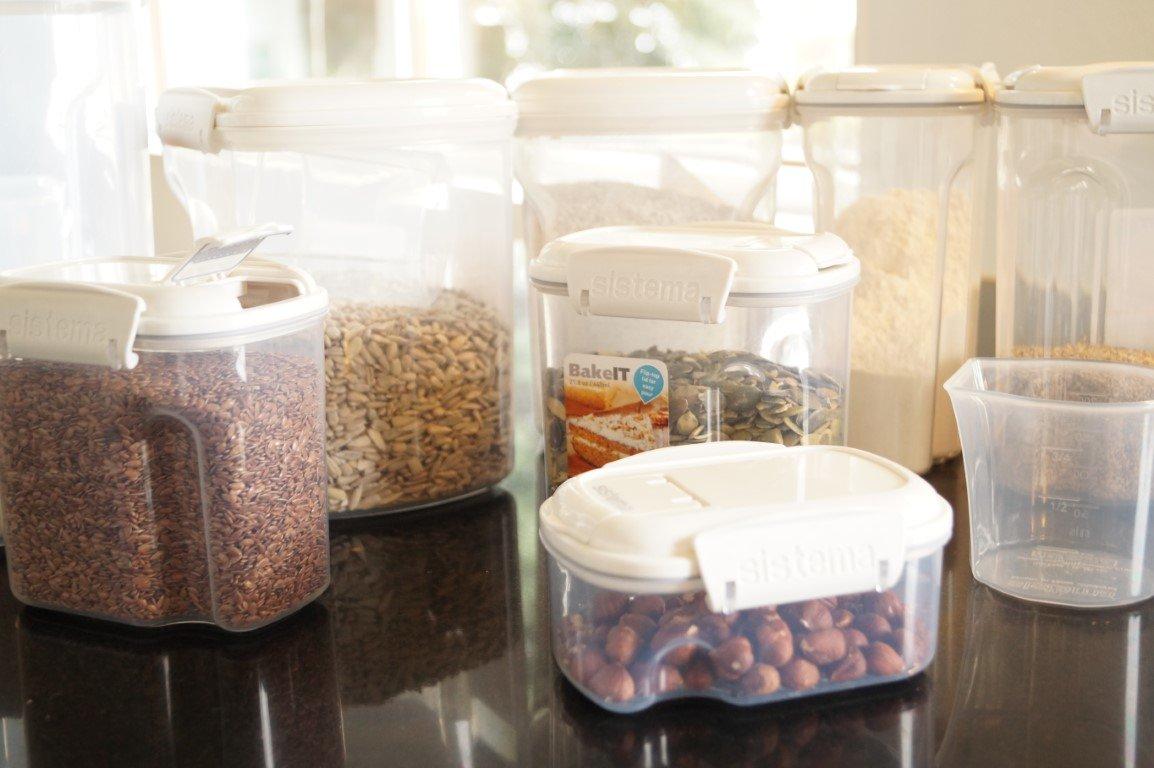 Bøtter til opbevaring af mel og kerner