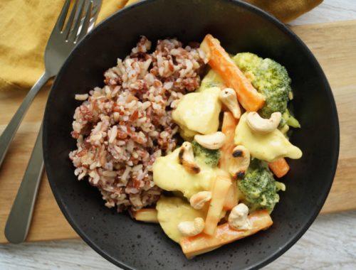 Kylling i karry med broccoli og gulerødder