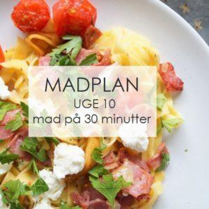 Madplan uge 10 - mad på 30 minutter